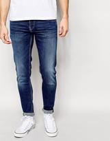 Pepe Jeans Finsbury Skinny Jeans In Dark Wash