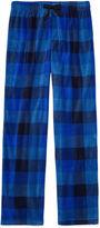 Arizona Microfleece Blue Plaid Pajama Pant-Boys 4-20 & Husky
