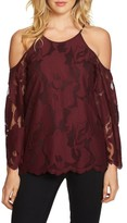 1 STATE Women's 1.state Cold Shoulder Lace Top