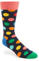 Happy Socks Men's Polka Dot Cotton Blend Socks