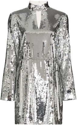 Tibi Avril sequin-embellished mini dress