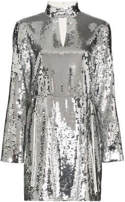 Tibi Avril sequin-embellished mini dress