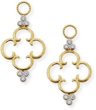 Jude Frances 18K Clover Diamond Earring Charms