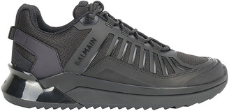 Balmain Panelled Logo Sneakers