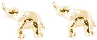 Bill Skinner Women's 18ct Yellow Gold Plated Elephant Stud Earrings