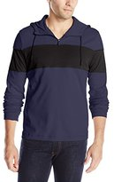 Kenneth Cole New York Kenneth Cole Men's Ls Clr Blk Half Zip