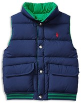 Ralph Lauren Boys' Reversible Down Puffer Vest - Sizes 2-7