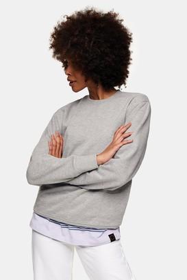 Topman Womens Grey Classic Sweatshirt - Grey