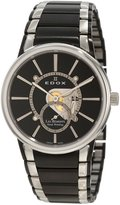 Edox Men's 72011 357N NIN Les Bemonts Hand Winding Stainless Steel Watch