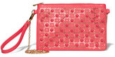 New York & Co. Beaded Perforated Clutch