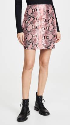 Endless Rose Faux Snake Skin Pattern Miniskirt