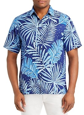 Tommy Bahama Through The Fronds Regular Fit Short-Sleeve Silk Shirt