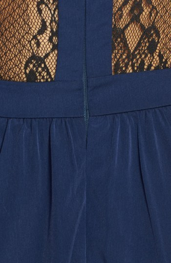 Lush Lace Inset Skater Dress (Juniors)