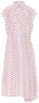 Balenciaga Polka-dot silk shirt dress