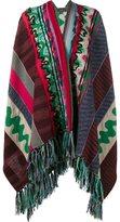 Etro Wool-Blend Patchwork Tassel Poncho