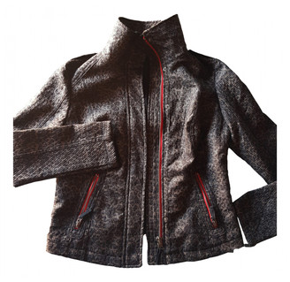 Free People Brown Cotton Leather jackets