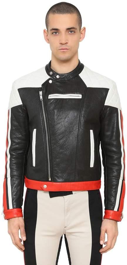 Givenchy Motocross Leather Biker Jacket