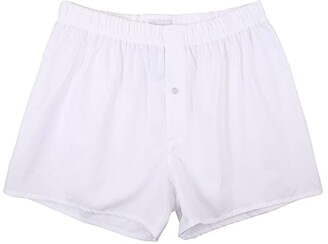 Hanro Fancy Woven Boxer (White) Men's Underwear
