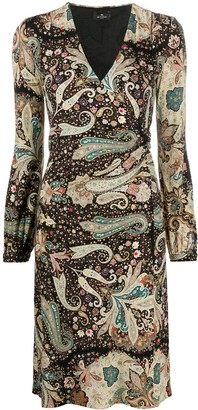 Etro Paisley-Print Midi Dress