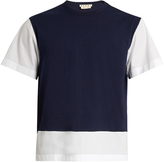 Marni Bi-colour cotton-jersey T-shirt