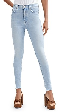 7 For All Mankind High Waisted Skinny Jeans in Las Palmas Stretch