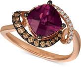 LeVian Le Vian® Raspberry Rhodolite® (1-3/4 ct. t.w.) & Diamond (1/4 ct. t.w.) Ring in 14k Rose Gold