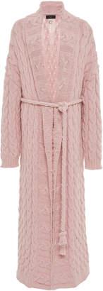 Alanui Cable Knit Cotton-Blend Maxi Cardigan