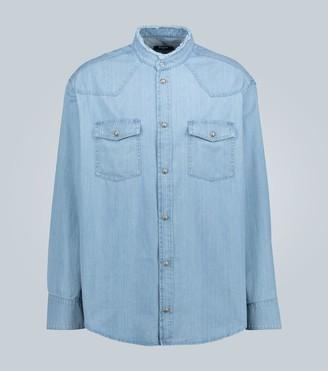 Balmain Distressed denim shirt