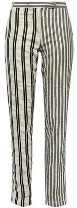 Ann Demeulemeester Striped Cotton-blend Twill Tapered Pants