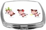 Rikki Knight Compact Mirror, Monkeys Dancing