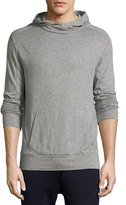 Ralph Lauren Ribbed Modal-Pima Cotton Hoodie, Gray