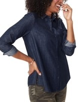 NYDJ Chambray Cotton Button-Down Top