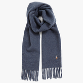 Polo Ralph Lauren Italian Wool Scarf, Blue Heather