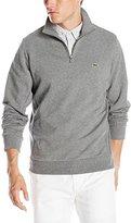 Lacoste Men's 1/4 Zip Light Weight Fleece Sweatshirt