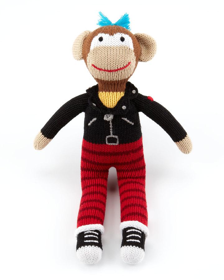 Zubels Boys' Rock Monkey Knit Doll
