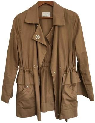 Sandro Beige Cotton Coat for Women