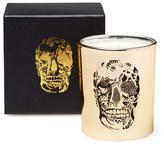 D.L. & Co. Gold Metallic Delft Skull Tumbler Candle (8.75 OZ)