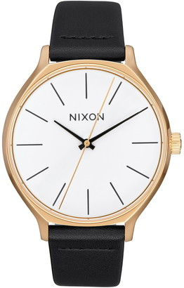 Nixon Women's Clique Leather Strap Watch, 38mm