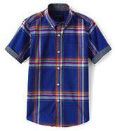 Classic Toddler Boys Short Sleeve Summer Camp Shirt-Evening Cobalt Multi Plaid