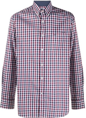 Paul & Shark Check Print Button-Down Shirt
