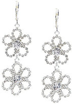 Cezanne Open Flower Statement Drop Earrings