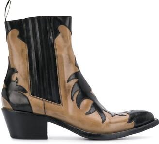 Sartore washed cowboy boots