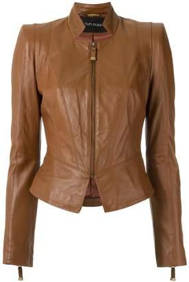 Tufi Duek panelled leather jacket