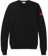 Saint Laurent Appliquéd Wool Sweater