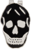Alexander McQueen Black and White Skull Money Clip