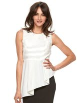 Elle Women's ELLETM Asymmetrical Peplum Top