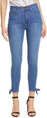 Alice + Olivia Jeans Good High Waist Tie Cuff Ankle Skinny Jeans