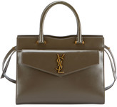 Saint Laurent Uptown Medium Leather Satchel Bag