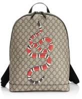 Kingsnake Print GG Supreme Canvas Backpack