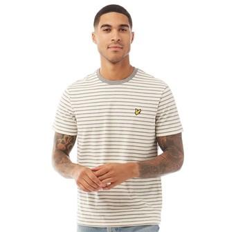 Lyle And Scott Vintage Mens Stripe T-Shirt X80 Buttercream